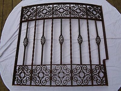 Antique Wrought Iron Window Grill Grate,early Victorian .fence,railing,gate
