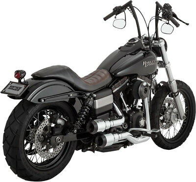 Vance & Hines - 16896 - Hi-Output Grenades 2-Into-2 Full Exhaust (Chrome/Black)