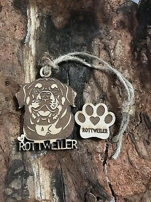 Rottweiler Christmas Ornament & 2 FREE Magnets