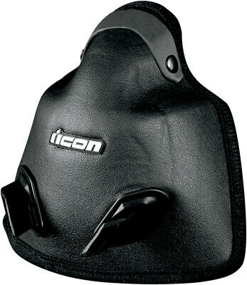 ICON Genuine Replacement Snowmobile Breathbox for Variant Helmet (Black)