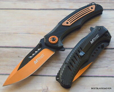 8.25 Inch Mtech Spring Assisted Tactical Knife With Pocket Clip