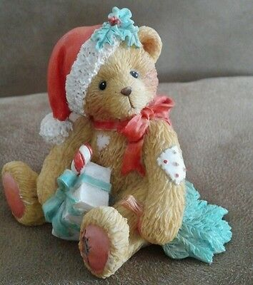 "Cherished Teddies ""Denise"" December Christmas Bear 1993 Patricia Hillman"
