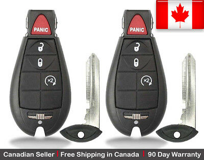 2x New Replacement Keyless Entry Remote Control Key Fob For Dodge Chrysler RAM