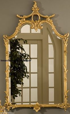 LARGE ORNATE WALL MIRROR FRENCH CHINOISERIE REGENCY ANTIQUE STYLE NEW 8 Finishes