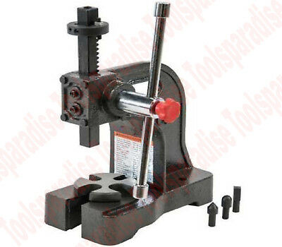 1/2 Ton Cast Iron Bench Mount Hand Operated Arbor Bearing Press Tool
