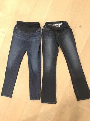 Lot Of 2 A Pea In The Pod Joes Maternity Denim Skinny Jeans Size XS 27