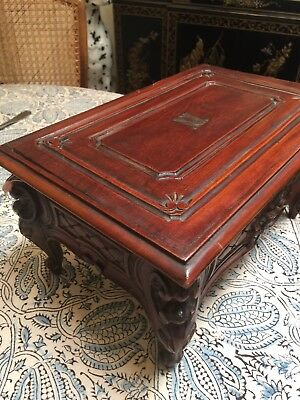 1920's Antique French Carved Rosewood Jewelry Box