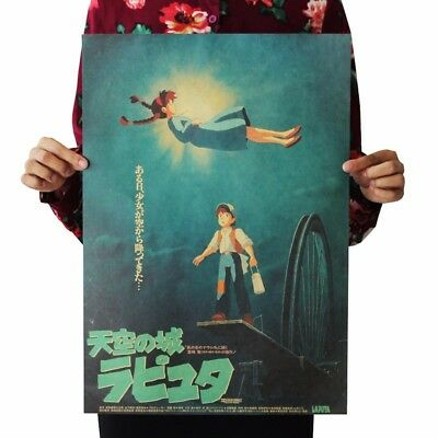 US SELLER-Japanese anime kraft paper retro poster home and decor