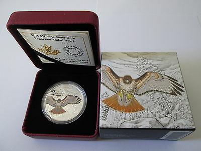 1 oz 99,99% Fine Silver Coin The 2016 Majestic Animal The Regal Red-Tailed Hawk