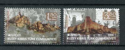 Turkish Northern Cyprus 2017 MNH Castles Europa 2v Set Architecture Stamps