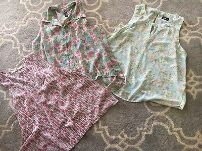 Lot Of 3 Sz 14 Large Sheer Tank Tops Grab. Dotti. Factorie