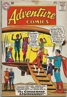 Adventure Comics #313 DC (1963) Silver Age Comic (Legion of Super-Heroes) VG/VG+