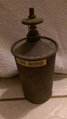 Brass Container -  Ethyl Alcohol    Hot Rod, Gin Still, Auto   ???????