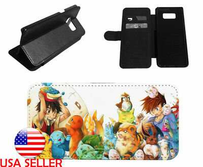 super popular 0b636 03201 CHARIZARD POKEMON ANIME Leather Wallet Phone case for iPhone Samsung Galaxy  LG