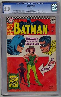 DC - BATMAN #181 - CGC 5.0 - Off-White pages - 1st app Poison Ivy w/ Pin-Up