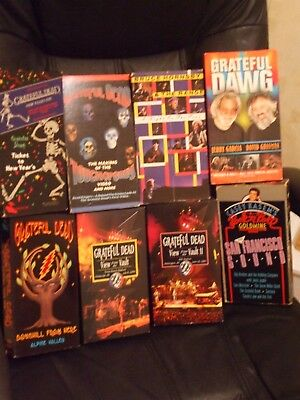 Grateful Dead- VHS  Collection,10 different tapes