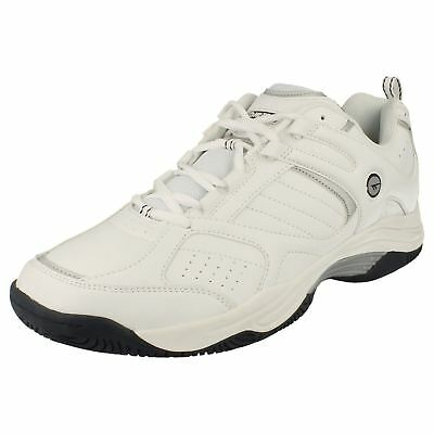 Hi Tec 'Neon' Men's White/Navy Synthetic Lace Up Casual Trainers