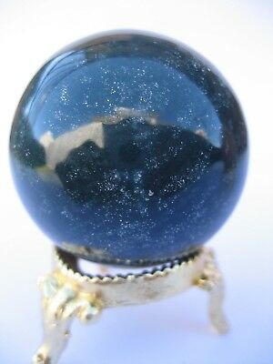 Bloodstone 4.5cm 109g Crystal Ball Orb Sphere with Gold Stand Strength (BL001)