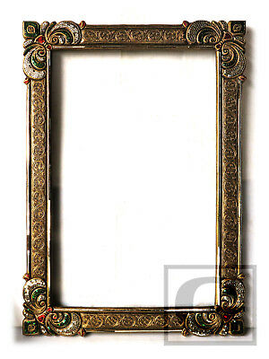 Vintage Ornate Mirror Wood Large Gold Frame Wall Hanging Home Art Decor 18 gtahy