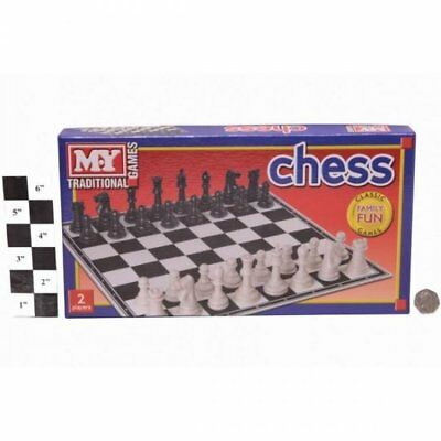 Classic Traditional Retro Chess Game Printed Box Strategy Board Play Family Fun