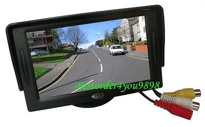 """4.3"""" TFT LCD Car Rear View Reversing Color Monitor VCR DVD For Backup Camera AU"""
