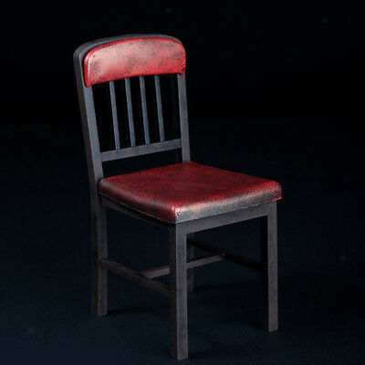1/6 Scale Metallic Colored Chair Stool Model for 12INCH Action Figure Red