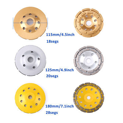 Diamond Angle Grinder Grinding Stone Brick Grinding Cup Wheel Disc Concrete Cup~