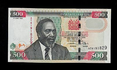 KENYA  500  SHILLINGS 2005  AT   PICK # 50b  UNC LESS.