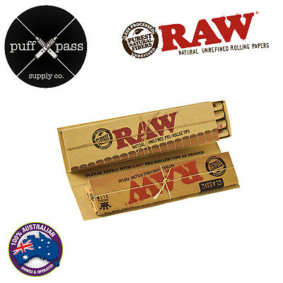 Raw Masterpiece Connoisseur King Size Slim Rolling Papers + Pre Rolled Tips