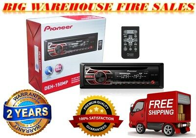 PIONEER DEHS1000UB Single-DIN Car Stereo CD/MP3 Player AM/FM Remote AUX Input