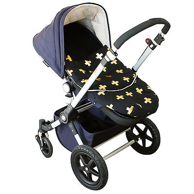 Bambella Designs Pram Footmuff- Gold Cross