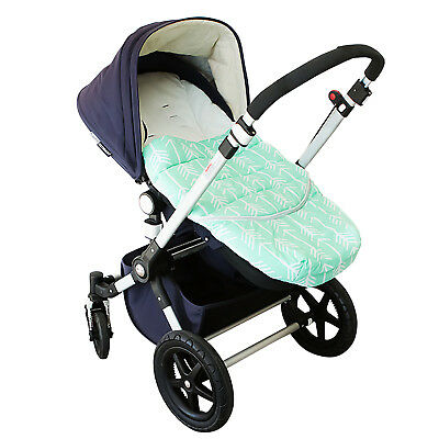 Bambella Designs Pram Footmuff- Mint Arrow