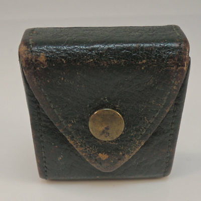 Antique Vintage Leather Ring Box Jewellery/Jewelry Display Presentation Case