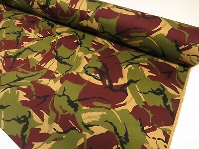 Classic Cotton Drill Camouflage Army Green CAMO Soldiers Military Dress Fabric
