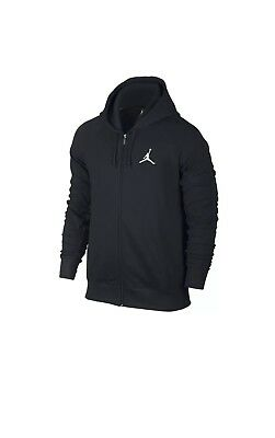 23851b3f6b5915 Nike Air Jordan Flight Lite Full-Zip Mens Hoodie Black Size 2XL 822658 010