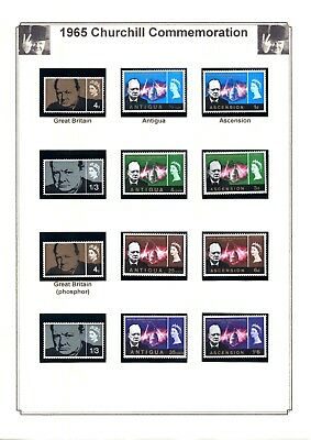 REDUCED - 1965 Churchill Commemoration Collection - 35 sets inc GB Phosphor