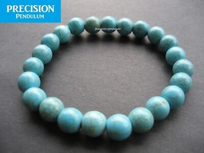 Turquoise 6mm Beads Stretch Healing Bracelet Protection Gemstone Crystal