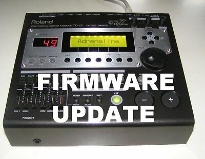 Roland TD-12  upgrade firmware to  1.11