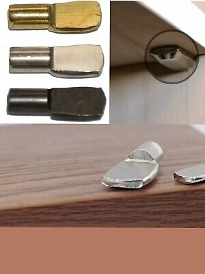 12 x STRONG 4,5,7mm METAL SHELF SUPPORTS PLUG IN STUD PINS PEGS CABINET CUPBOARD