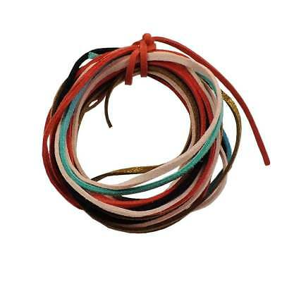3mm Flat Faux Suede Leather Cord Thong - 30+ Colours - 1m to 5m