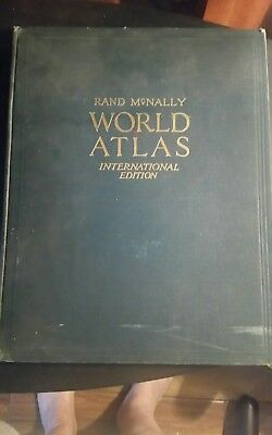1941 Rand Mcnally World Atlas International Edition