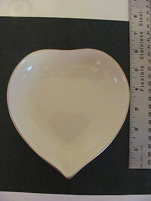 New! 2000 Lenox Heart Shaped Candy Dish 24 Kt Gold Trim Never Displayed