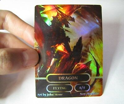 4x Mtg Blank Foil de-inked cards Magic the Gathering MTG for proxy