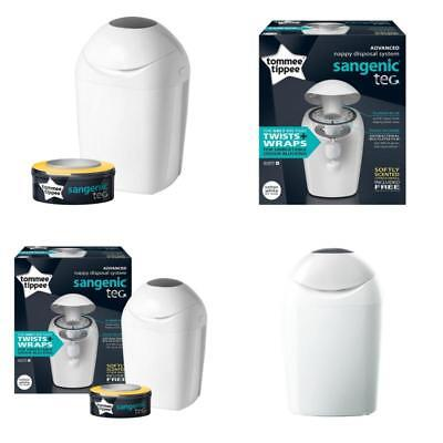 Tommee Tippee Sangenic Tec Baby Nappy Diaper Disposal System Bin Tub Cassette +1