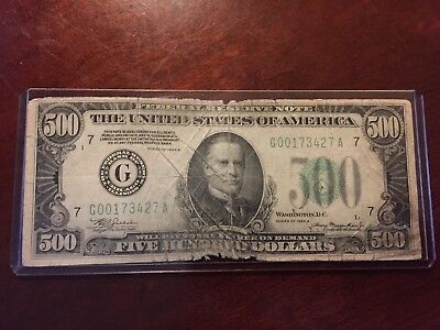 $500 bill 1934 Federal Reserve Note