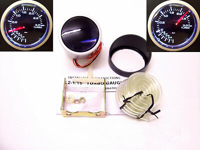 RSR Ladedruck Anzeige SET 3BAR 52mm SMOKE LOOK Boost Gauge 16V G60 VR6 Turbo RS