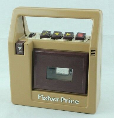 Vintage 1980 Fisher-Price My first Portable Tape Cassette Player Recorder Works!