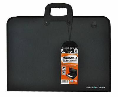 Daler Rowney Graduate Zip Folio - Portfolio without Rings - A3