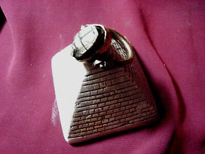 Ancient Egyptian Scarab ring steatite Amulet Sz10