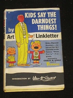 Art Linkletter Kids Say The Darndest Things Comedy 1957 Hard Cover Prentice Hall